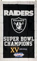 Oakland Raiders NFL Super Bowl Championship Flag 3x5 ft Sports Banner Man-Cave