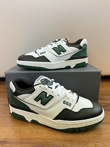 New Balance 550 WHITE BLACK GREEN SIZE 9 MEN BB550LE1 shifted sports (Brand New)