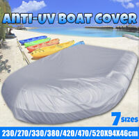 7.5ft-17ft Length Inflatable RIB Boat Dinghy Cover Waterproof Anti-UV Cover  #