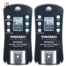 YONGNUO RF605C Flash speedlite Trigger shutter wireless with LCD for Canon 700D