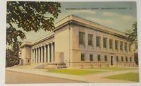 Vintage INDIANA postcard Indianapolis Library Building  IN 1930s James Riley