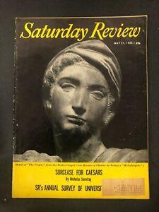 Saturday Review 1960 Nicholas Samstag J. Frank Dobie Zbigniew Brzezinski
