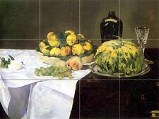 Art Still Life Fruits Ceramic Tile Mural Backsplash Kitchen Decor #196