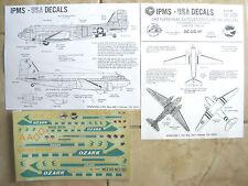 "DC-3/TC-47D DAKOTA ""OZARK/USAAF"" IPMS USA DECALS 1/48 1/72"