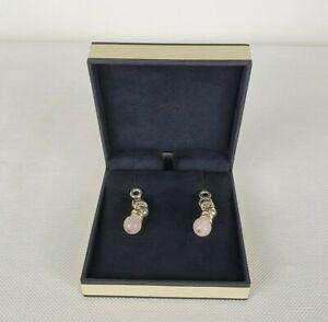 Links Of London Earrings Rose Quartz Sterling Silver 925