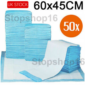 Disposable Incontinence Bed Pads Protection Sheets 60 x 45 cm pack of 50 Sheets
