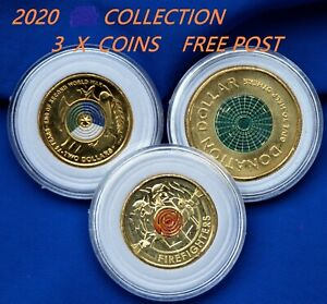 2020 $2 & $1 COLLECTION 3 COINS IN CAPSULES,ALL NEW & UNC,TOP QUALITY GUARANTEED