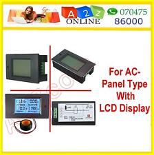4 In1 Digital LCD Meter For AC(80-260V/100A)Ammeter/Voltmeter/Energy/Power Meter