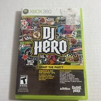 DJ Hero (Microsoft Xbox 360, 2009 Complete Video Game Free Ship Good Condition