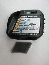 OEM HOMELITE STRING TRIMMER AIR FILTER BOX COVER WITH LABELS & AIR FILTER