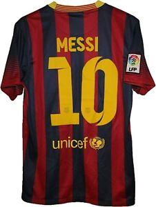 2013 #10 MESSI BARCELONA FC Football Shirt Jersey NIKE size S Tricot Camiseta