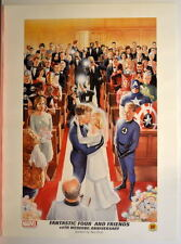 FANTASTIC FOUR & Friends 40th WEDDING ANNIVERSARY Print Dynamic Forces Alex Ross