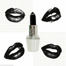 Saffron London - Black Lipstick Ideal For Goth Gothic Halloween Fancy Dress