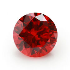 1.46CT 6MM Padparadscha Sapphire Round Cut Shape AAAAA VVS Loose Gemstone