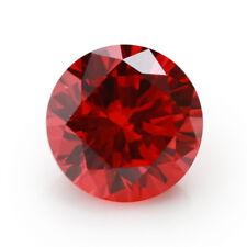 6.12CT 10MM Padparadscha Sapphire Round Cut Shape AAAAA VVS Loose Gemstone