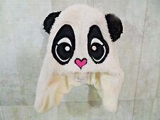 Childrens Place Baby Girls Hat Panda Bear Beanie 12-24 Months Medium White New