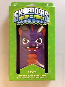 Skylanders Swap Force iPhone 4 4S Mobile Phone Soft Case Cover Spyro NEW
