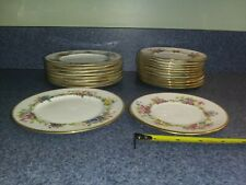 Cauldon England Hand Painted Artist Signed S Pope Bread Butter Plates
