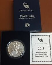 2013-W American Silver Eagle Burnished In Box/COA West Point