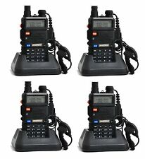 4 X Baofeng UV-5R Walkie Talkie Ricetrasmittente Two Way VHF/UHF Dual Band Radio