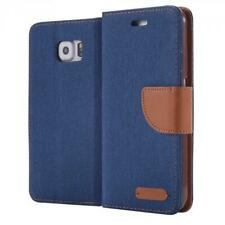 Phone Case Book Cover Wallet for  Samsung Galaxy S6 / S6 Duos Blue