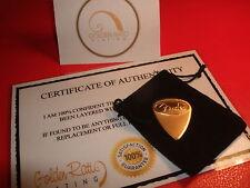 24ct Gold Plated Music Rock Fender Guitar Pick/Plectrum Medium Gauge + Gift Bag