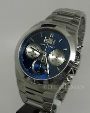 Mens Wittnauer Blue Dial Chronograph Designed In New York By Bulova Watch