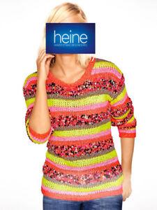 Pullover B.C. Best Connections by heine. Pink-bunt. Gr. 36/38. NEU!!! KP 49,90 €