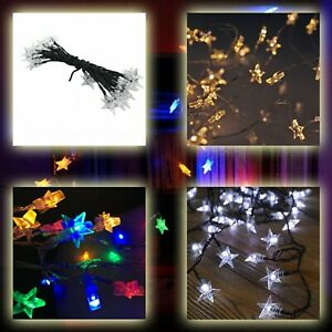 Christmas LED Star Lights String 100 Timer Memory Indoor Outdoor Decoration Xmas