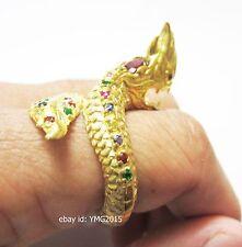 """"""" Twist NAGA SNAKE """"Powerful Amulet Ring of Radiant Brass & Total 23Gems on NAGA"""