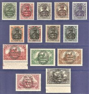 DR AIIenstein Deutsches Post Rare WWI MNH Stamps 1920 Germania Overprin Full Set