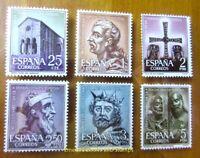EBS Spain España 1961 - 1200th Anniversary Oviedo - 1289-1294 MNH**