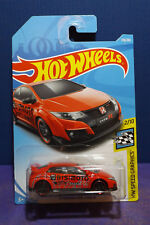 2018 HOT WHEELS '16 HONDA CIVIC TYPE R, HW Speed Graphics car. 2/10 Long Card.