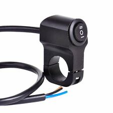 "Black 7/8"" 22mm Motorcycle Handlebar Headlight Fog Spot Light On Off Switch NEW"