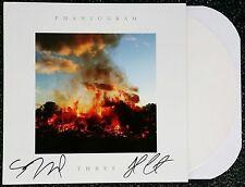 PHANTOGRAM SIGNED THREE LP WHITE VINYL RECORD SARAH BARTHEL JOSH W/COA