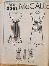 Vtg McCall's Liz Claiborne pattern 2361 Misses'/Petite Dress sz 12 bust 34 uncut