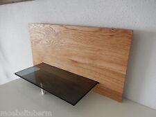Glasregal Wandboard Eiche Massiv Holz Board Regal Glas Brett NEU auch auf Maß