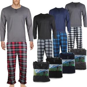 Rugged Frontier Men's Plaid Fleece 2 Piece Lounge Pajama Set