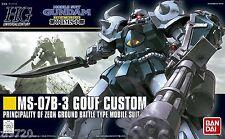 BANDAI HG HGUC MS-07B-3 Gouf Custom (Mobile Suit Gundam 08)1/144 Scale kit