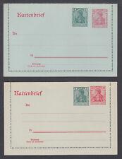 Germany Mi KZP 1I, KZP 1V mint. 1917 surcharged Letter Cards, fresh, VF.