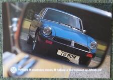 MGB GT CAR SALES BROCHURE SEPTEMBER 1976 REF- 3211