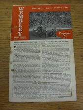 18/09/1947 Speedway Programme: London Cup Final - Wembley v New Cross (Folded, C