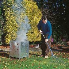 90L Garden Incinerator Outdoor Fire Bin Rubbish Square Burner Waste Leaves Wood