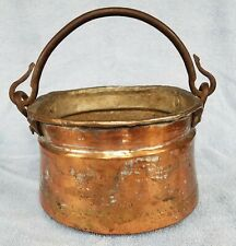 New ListingAntique Vintage Large Copper Cauldron Kettle Pot with Hand Forged Iron Handle