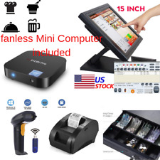 New mini Fanless Pc Entry level Pos Point of Sale System Combo Kit Retail Store
