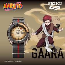SEIKO 5 Sports Naruto & Boruto GAARA Model Limited Edition Men's Watch SRPF71K1