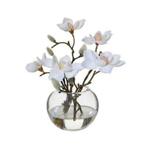 NEW Magnolia Flowers in Vase   Small
