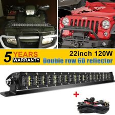 "22"" LED Light Bar Dual Row Spot Flood Combo OffRoad Bumper Driving ATV SUV 20"""