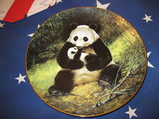 """Bradex First Issue Signed Will Nelson Gold Trim """" The Panda """"  Plate"""