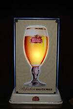 Stella Artois Beer Lighted Display Sign with Stand (Rare Sign) & Free Shipping